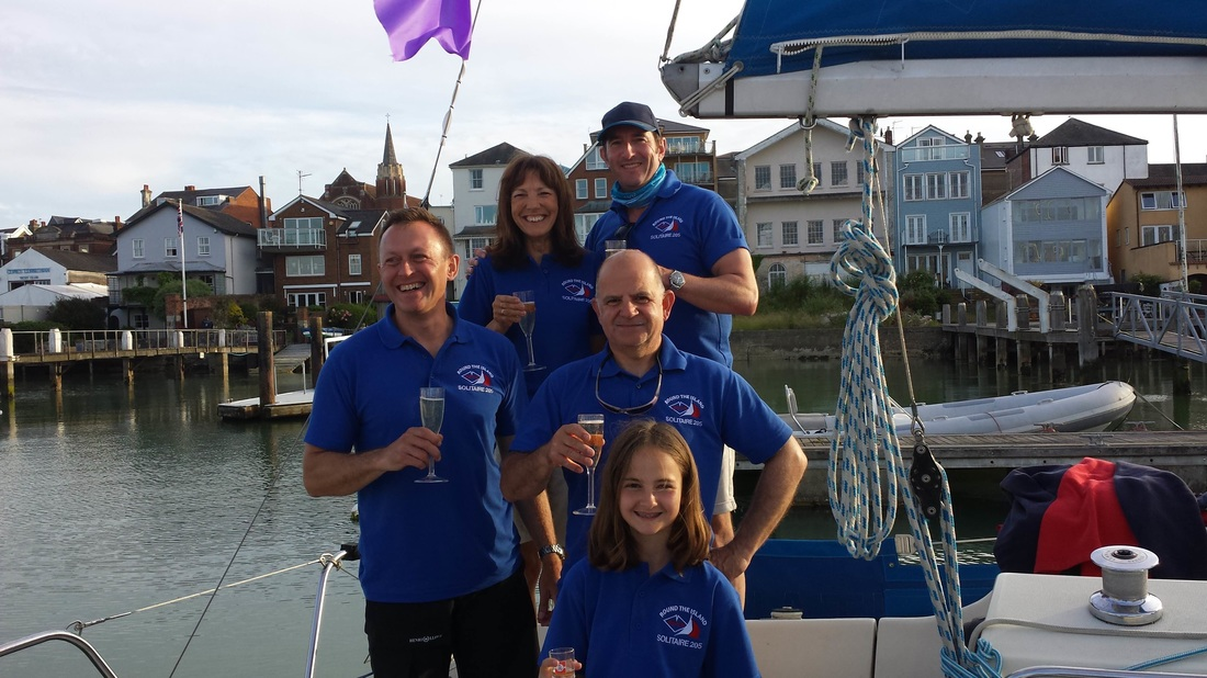 Mark Streeter, Andy and Annie Cox and Anne Marie Stewart are sailing round the Isla of Wight
